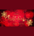christmas banner with glittery snowflakes vector image vector image