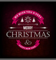 christmas card with dark pattern background vector image vector image
