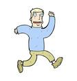 comic cartoon terrified man vector image vector image