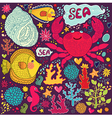 Crab print vector image vector image