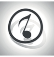 Curved music sign icon 3 vector image vector image