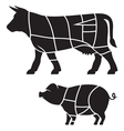 cuts meat vector image