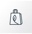 eco packing icon line symbol premium quality vector image vector image