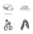 ecology sport restaurant and other monochrome vector image vector image