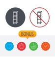 Empty shelves icon Shelving sign vector image vector image
