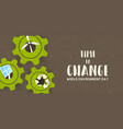 environment day card green technology concept vector image vector image