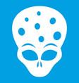 extraterrestrial alien head icon white vector image vector image