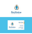 flat employee logo and visiting card template vector image vector image