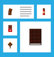 flat icon chocolate set of wrapper dessert vector image vector image