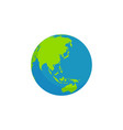 flat style globe design vector image
