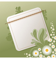 floral background with empty note vector image vector image