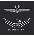 football emblems with eagles vector image