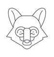 fox head line icon sign on vector image vector image