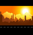 graphic of a cityscape vector image vector image