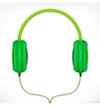 Green headphones vector image vector image