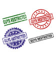 grunge textured guys restricted stamp seals vector image vector image