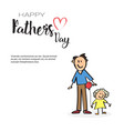 happy father day family holiday man with daughter vector image vector image