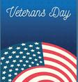 happy veterans day gradient blue background vector image vector image