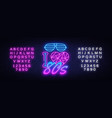 i love 80s neon sign design template back vector image vector image