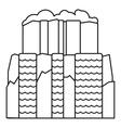 Iguazu waterfall icon outline style vector image