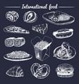 international food menufusion cuisine vector image