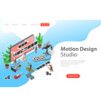 isometric flat concept motion design vector image vector image