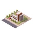 isometric modern house vector image