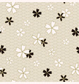 japanese classic sakura floral in black and light vector image