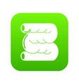 large intestine icon green vector image