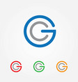 letter g and c logo vector image vector image