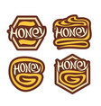 logo honey vector image