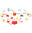 love map concept background cartoon style vector image