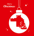 merry christmas theme with map of chandler arizona vector image