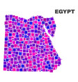 mosaic egypt map of square elements vector image vector image