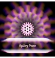 Mystic shiny card with circle ornament and color vector image vector image