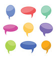 nine colorful cartoon comic balloons speech bubble vector image vector image