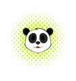 Panda bear head icon comics style vector image
