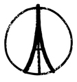 peace for paris vector image vector image