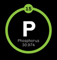 Phosphorus chemical element vector image vector image