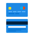plastic credit card flat icon isolated vector image vector image