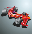 Red racing car vector image