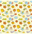 set of funny insects in a childrens style vector image