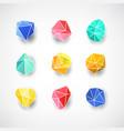 set of minimal geometric multicolor symbol set vector image vector image