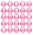 Shine Pink Glass Buttons vector image vector image