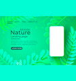 smartphone nature mobile screen eco technology vector image