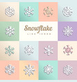 snowflakes on colored squares vector image vector image