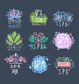 spa beauty studio logo design set badge