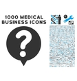 status balloon icon with 1000 medical business vector image vector image