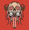 Super creepy leak skull with thorn vector image vector image