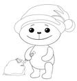 teddy bear santa claus contours vector image vector image